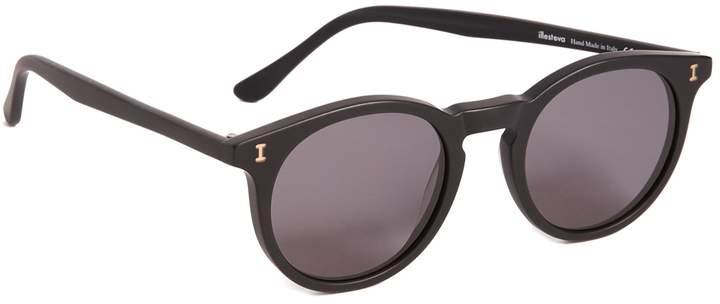Illesteva Sterling Matte Black Sunglasses