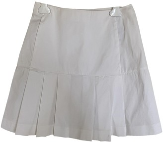 Prada White Cotton - elasthane Skirt for Women