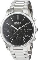 HUGO BOSS Men's 1513433 Silver Stainless-Steel Analog Quartz Watch