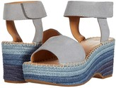 Frye And Co. AND CO. Amber Espadrille Wedge (Ice Blue Suede) Women's Shoes