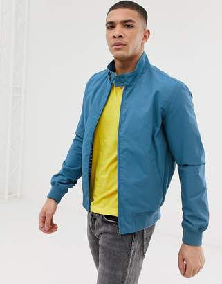 Celio cotton harrington with printed lining in blue