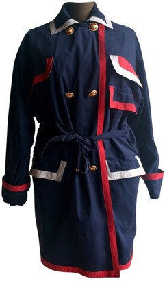 Versace Blue Trench Coat for Women Vintage
