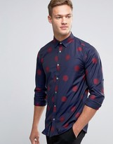 Ted Baker Shirt With All Over Flower Print in Regular Fit