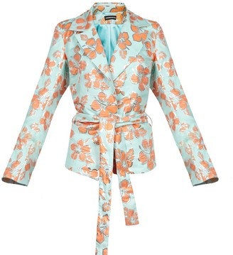Andreeva Mint Vanilla Jacket With Detachable Feathers Cuffs