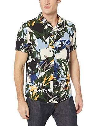 GUESS Men's Short Sleeve Rayon Camo Jungle Shirt