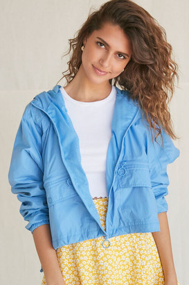 Forever 21 Hooded Cropped Windbreaker