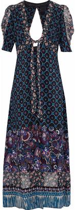 Anna Sui Open-back Printed Silk Kimono