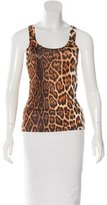 Christian Dior Sleeveless Leopard Print Top