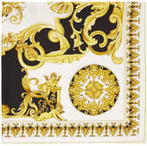 Versace - Foulard noir et jaune Baroq