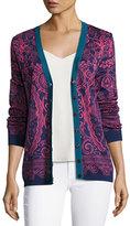 Mary Katrantzou Jacquard Knit Cardigan, Pink/Blue