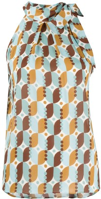 Altea Halterneck Geometric Print Top