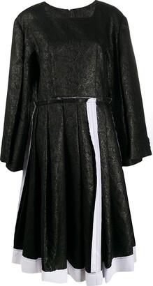 Comme des Garcons Jacquard Flared Dress