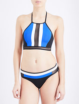 Jets Electrify high-neck bikini top
