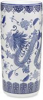 AA Importing 18 Dragon Umbrella Stand, Blue/White