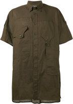 Yohji Yamamoto asymmetric pocket shirt - men - Cotton - III
