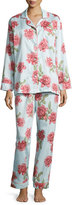 BedHead Rose-Print Pajama Set, Light Blue, Plus Size