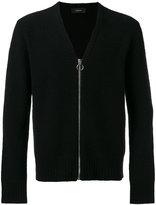 Joseph Boiled knit zipped cardigan - men - Polyamide/Wool - S