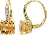 FINE JEWELRY Genuine Citrine and Diamond-Accent Leverback Drop Earrings
