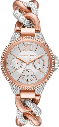 Michael Kors Camille Pave Chain Bracelet Watch, 34mm