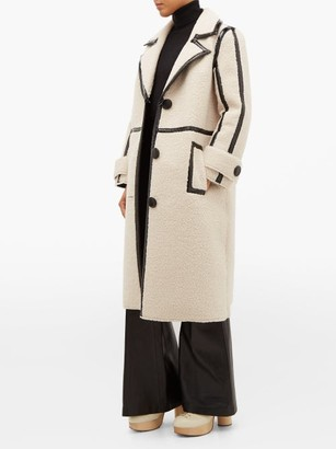 Kenzie Stand Studio Patent Edged Faux Shearling Coat - Womens - Multi