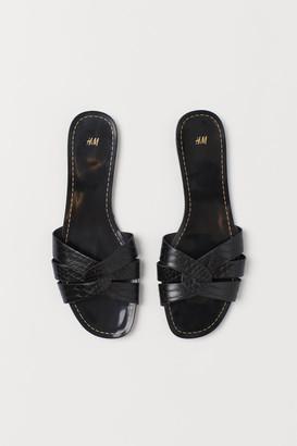 H&M Slides - Black