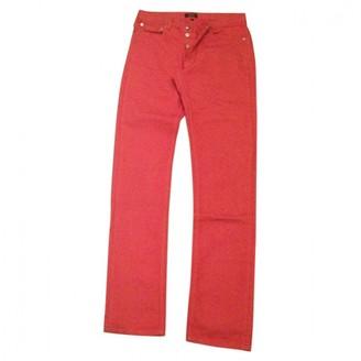 A.P.C. Jean etroit standard Pink Cotton Jeans for Women