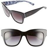 Dolce & Gabbana Women's 54Mm Sunglasses - Black/ Blue