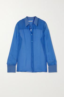 Georgia Alice Silk-chiffon Shirt - Blue
