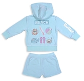 Butter Shoes Girls' Hoodie & Shorts Set - Baby
