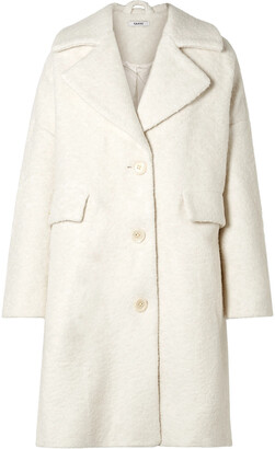 Ganni Penn Wool-blend Boucle Coat
