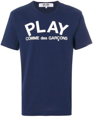 Comme des Garcons logo print casual T-shirt