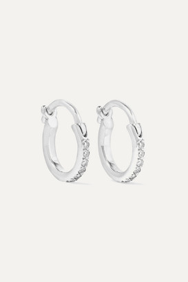 Ileana Makri 18-karat White Gold Diamond Hoop Earrings