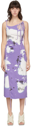 Ottolinger SSENSE Exclusive Purple and White Jersey Wrap Dress