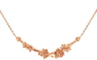 Lee Renee Cherry Blossom Branch Necklace Rose Gold