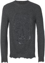 Alexander McQueen pierced skull jumper - men - Cashmere/Wool/Brass - M