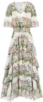 Maje Raffle Floral Midi Dress