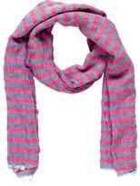 Malo Striped Linen-Blend Scarf
