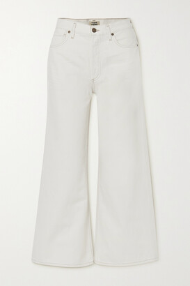 Citizens of Humanity - Serena Cropped Organic High-rise Wide-leg Jeans - Ivory
