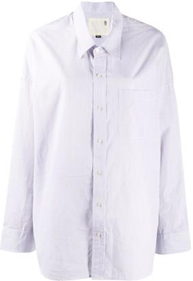 R 13 Pinstripe Oversized Shirt