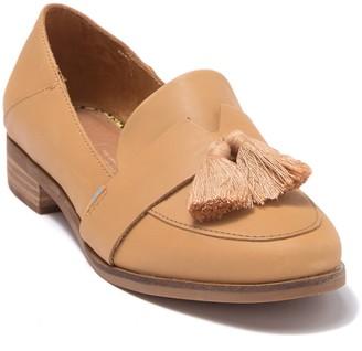 Toms Estel Leather Fringe Tassel Loafer