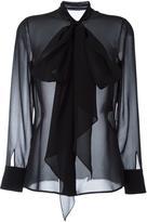 Saint Laurent sheer pussybow blouse - women - Silk - 36
