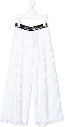 Miss Blumarine Pleated Loose-Fit Trousers