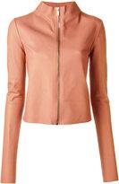 Rick Owens Lilies cropped jacket - women - Cotton/Lamb Skin/Polyamide/Viscose - 40