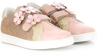 Little Marc Jacobs glitter low top sneakers