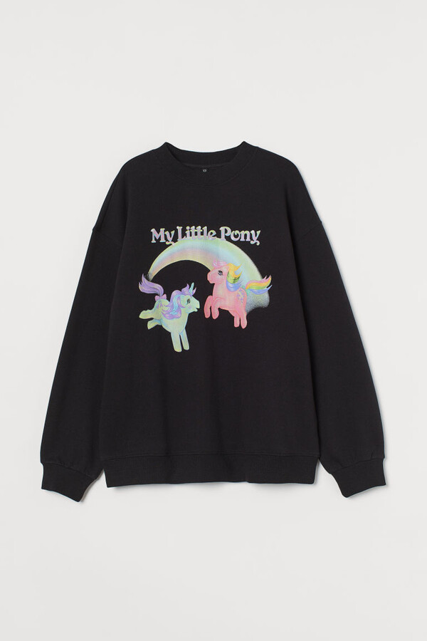 Thumbnail for your product : H&M Oversized Printed Sweatshirt - Black