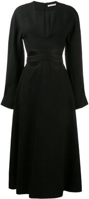 Emilia Wickstead Cut-Out Flared Dress