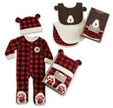 Baby Aspen Infant Happy Camper Footie, Hat, Burp Cloth & Bib Set