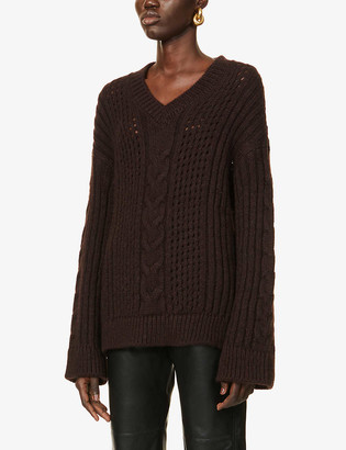 Nanushka Arwan chunky stretch-knit jumper