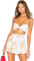 For Love & Lemons Limonada Crop Top in White. - size M (also in )