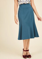 Flare It With Anything Midi Skirt in 2X